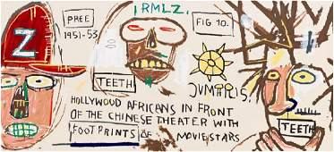 JeanMichel Basquiat Hollywood Africans Silkscreen