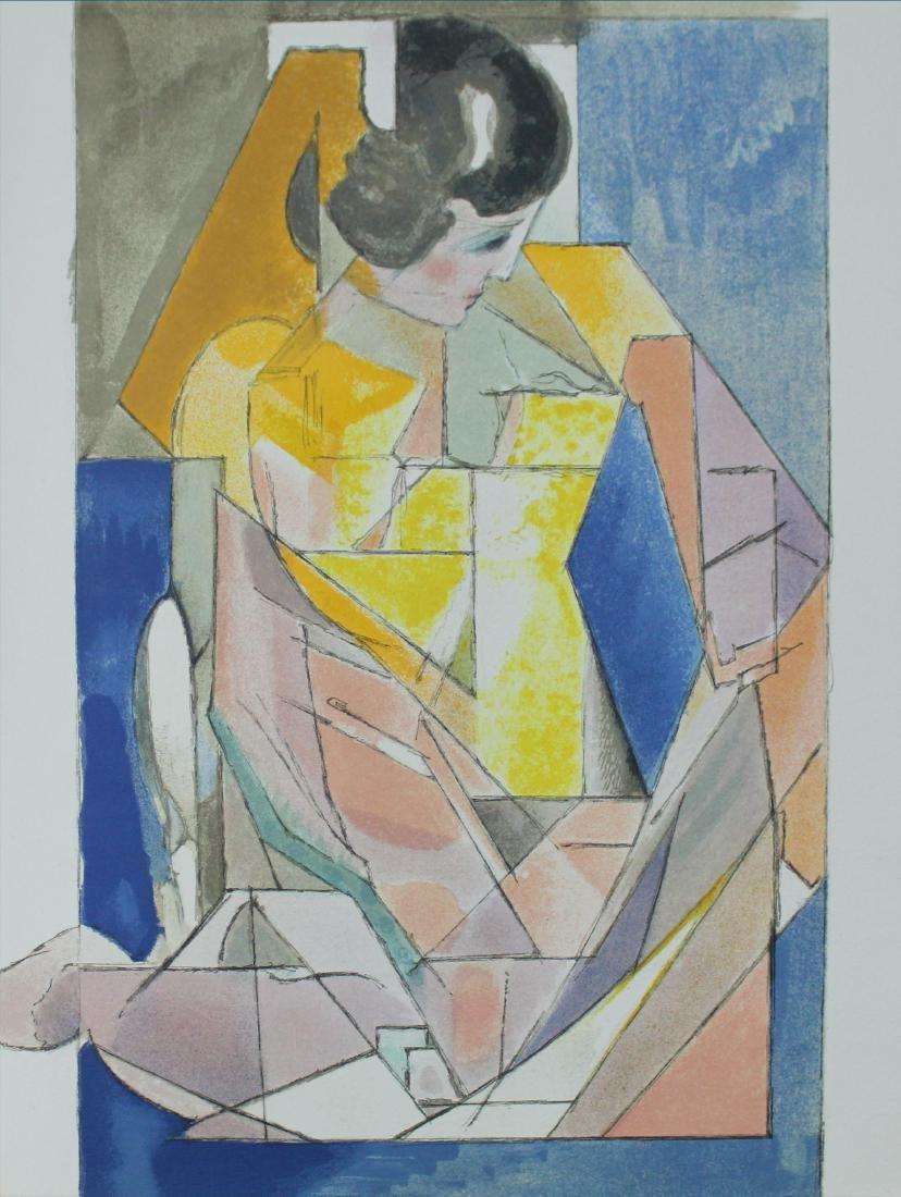 """Jacques Villon - """"Portrait d'une jeune fille"""" from"""