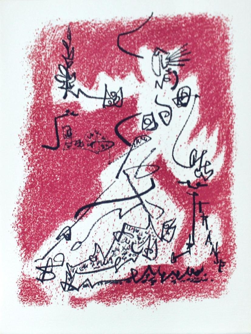 """Andre Masson - """"Le Depart"""" from Souvenirs de Portraits"""