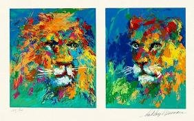 "LeRoy Neiman ""Lion and Lioness"""