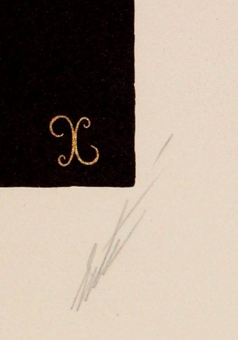 """Erte """"Letter X"""" - 3"""