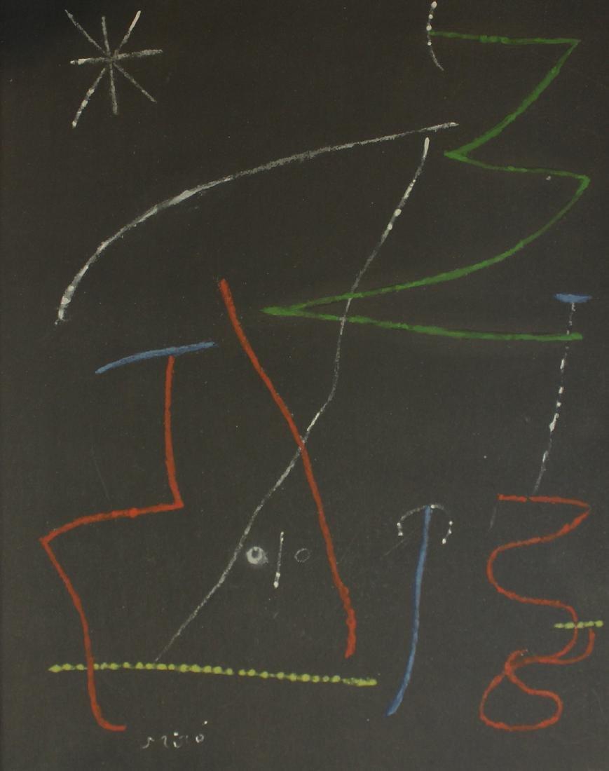 """Joan Miro """"Pochoir Pour"""""""