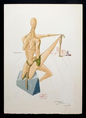 "Salvador Dali - Minos, Hand Signed, from ""The Divine"