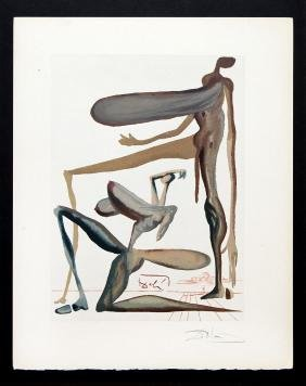 "Salvador Dali - Prodigality, Hand Signed, from ""The"