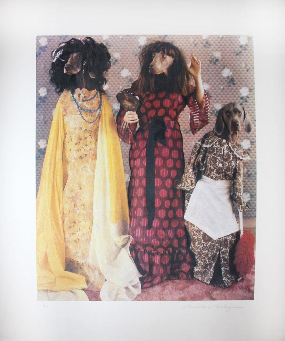 "William Wegman ""Three Stepsisters"" Orig Hand Sig. Litho"