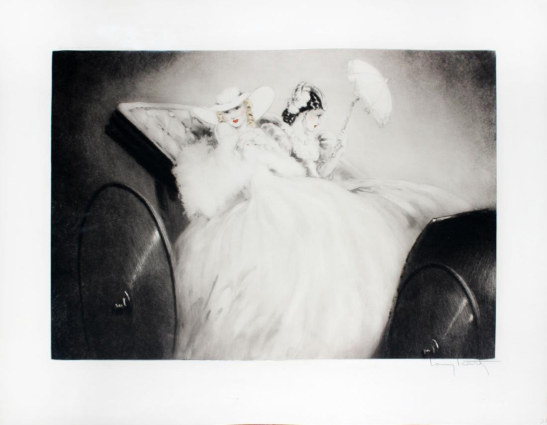 On the Champs Elysees by Louis Icart