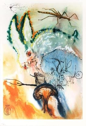 Down in the Rabbit Hole by Salvador Dali