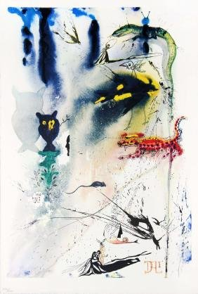 A Caucus Race and a Long Tale by Salvador Dali