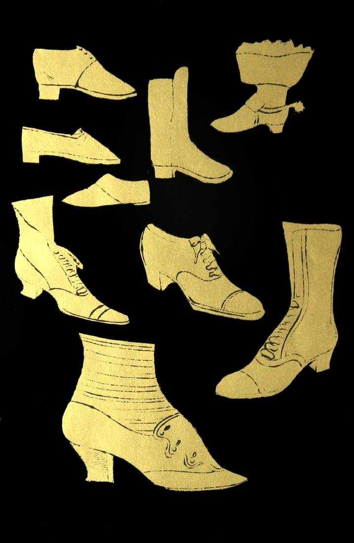 "Andy Warhol, ""Shoes"" A Gold Book IV 1957"