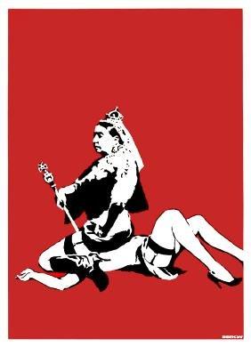 BANKSY - Queen Victoria