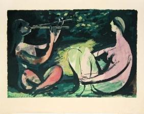 La Flute Double by Pablo Picasso (After)