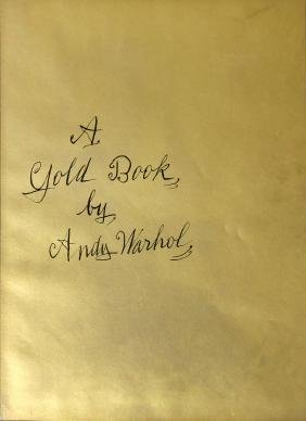 A Gold Book Cover by Andy Warhol