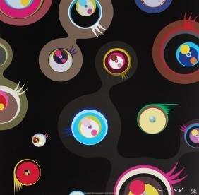 """Takashi Murakami """"Jellyfish Eyes Black"""""""