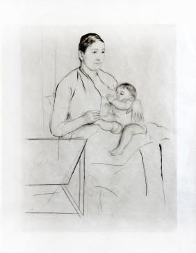 """Mary Cassatt, """"Nursing"""""""