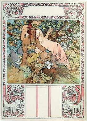 """Alphonse Mucha - Manhood, from """"Four Ages of Man"""""""