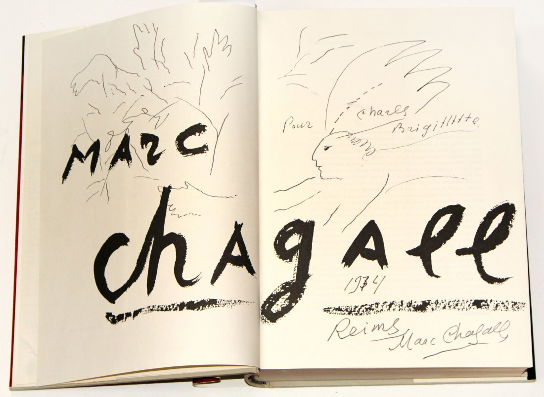 Marc Chagall - Message Biblique Book with Original Draw