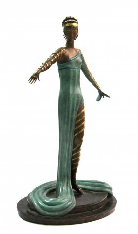 "Erte ""La Marveilleuse"" Bronze Sculpture"