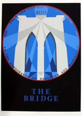 "Robert Indiana - Brooklyn Bridge from ""New York, New"