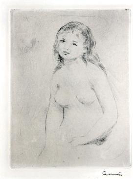 Etude Pour une Baigneuse by Pierre-Auguste Renoir