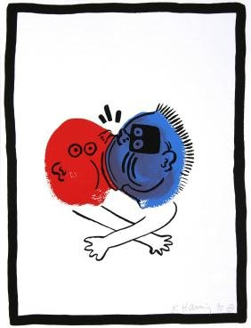 Keith Haring - No. 19 (Story Of Red And Blue)