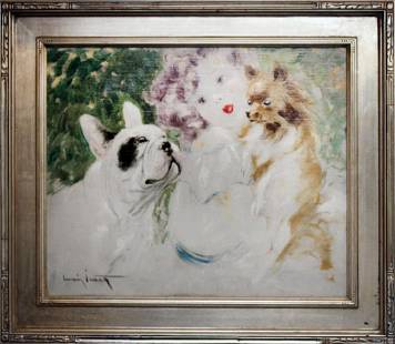Louis Icart Original oil painting