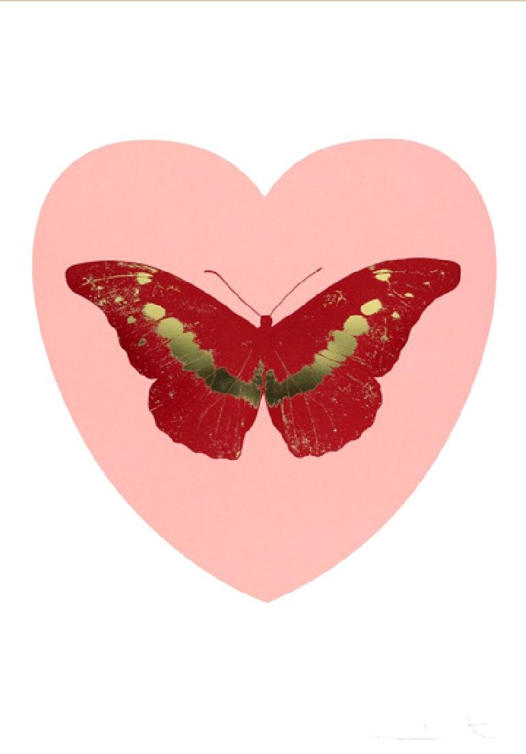 Damien Hirst - I Love You (Pink, Poppy Red, Cool Gold)