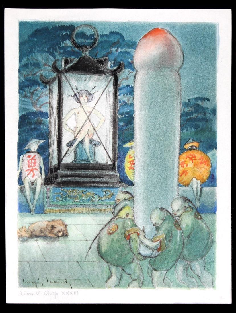 Louis Icart - Original Watercolor