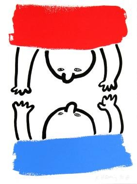 Keith Haring - No. 16 (story Of Red And Blue)
