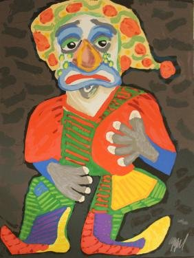 "Karel Appel ""pagliacci"" Orig. Hand Signed Lithograph"
