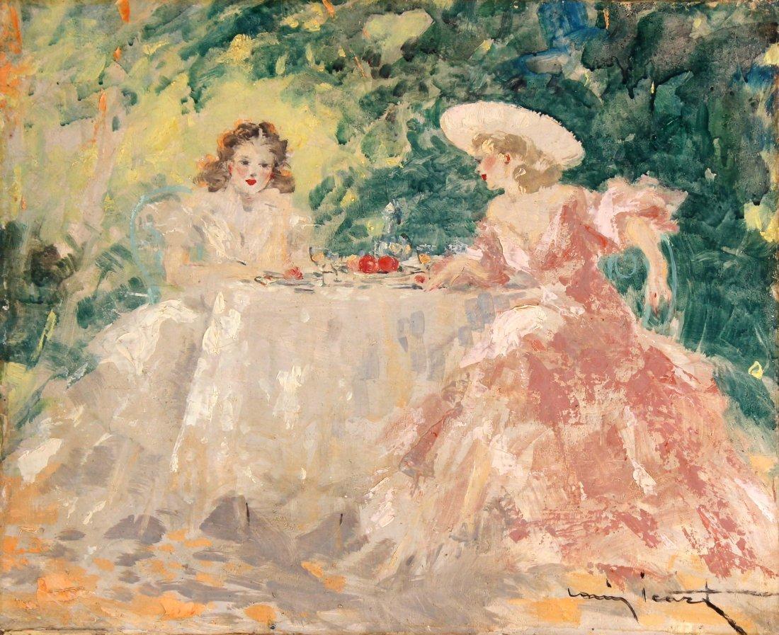 Louis Icart - Lunch in the Garden