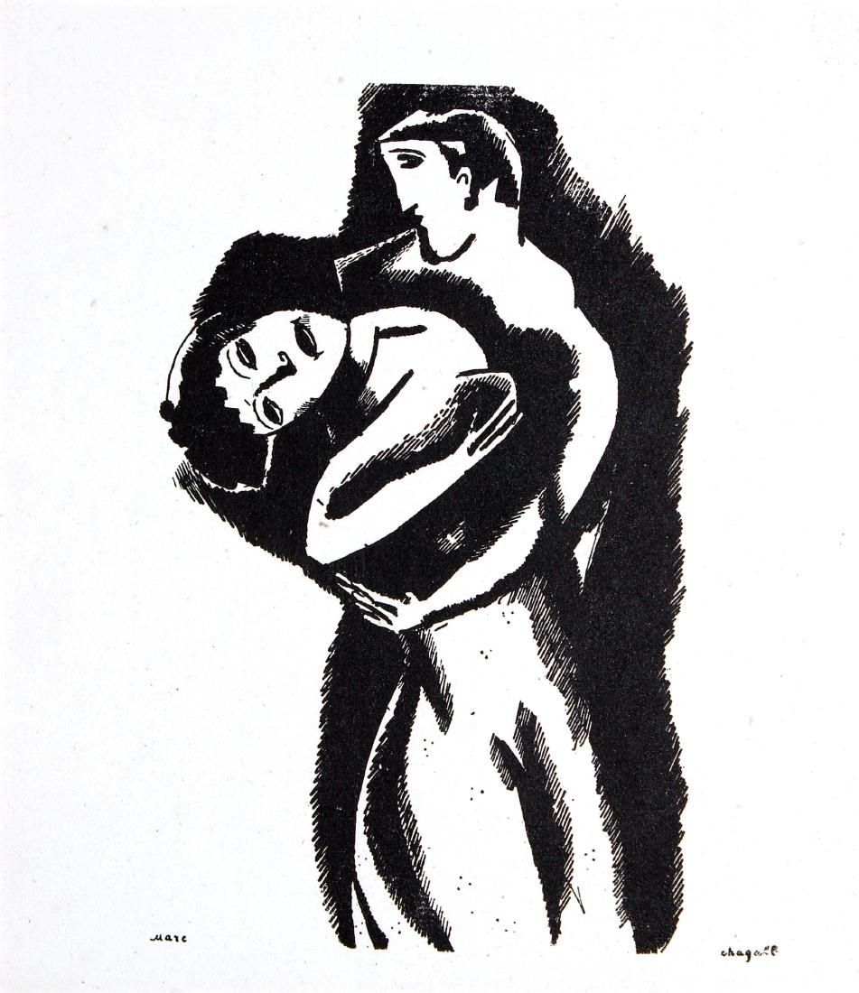 Marc Chagall - Lovers' Embrace