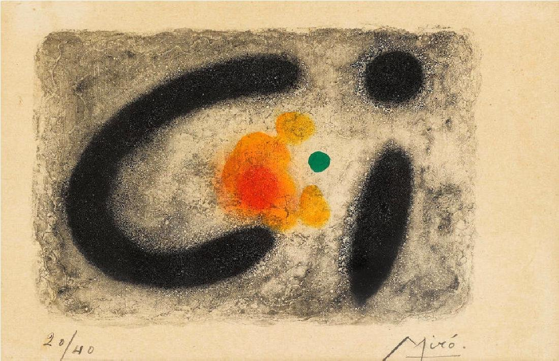 """Joan Miro - Pl. 4 from """"Nous Avons"""""""