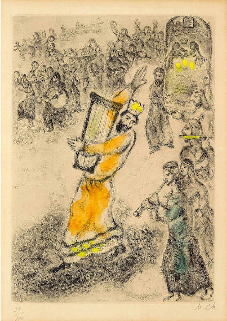 Marc Chagall - L'arche portee a Jerusalem