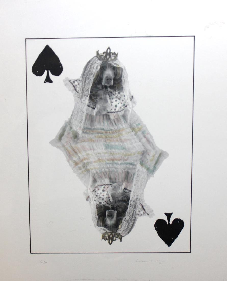 """William Wegman """"Queen of Spades"""" Weimaraner Print"""