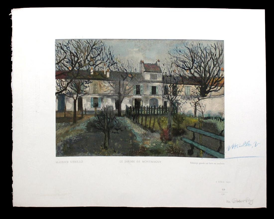 "Maurice Utrillo ""Le Jardin de Montmagny"""