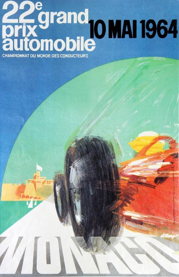 J. May - 22nd Monaco Grand Prix 1964 Vintage Poster