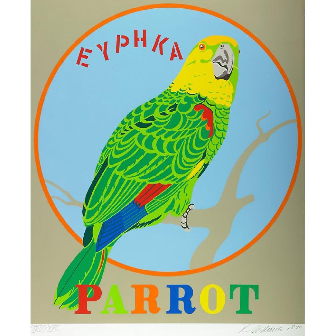 "Robert Indiana ""Parrot"" from Decade"