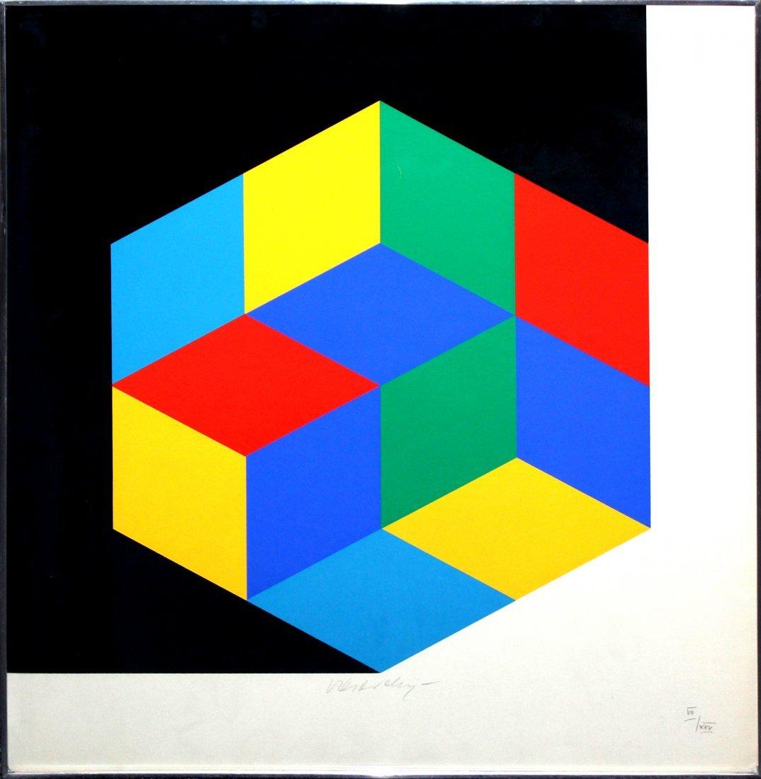 Victor Vasarely serigraph