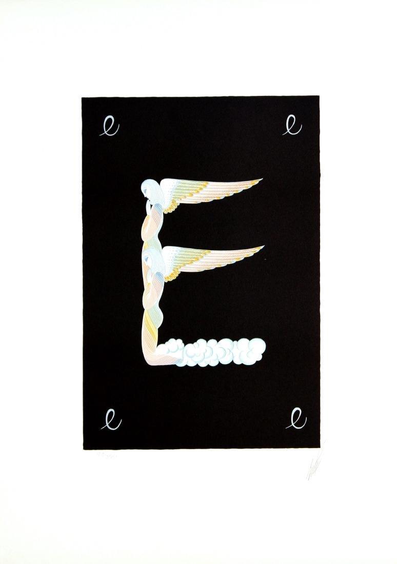 """Erte """"Letter E"""""""