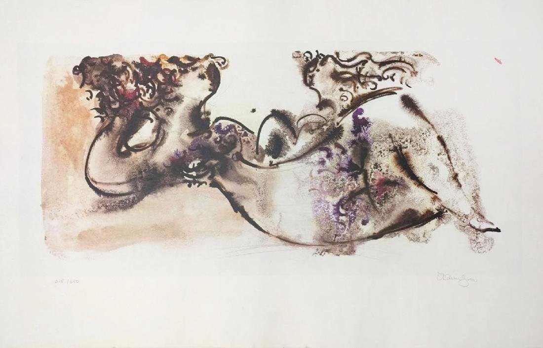 """Chiam Gross """"Untitled (Lounging Woman)"""""""
