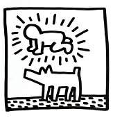 Keith Haring - Untitled (Dog & Figure)