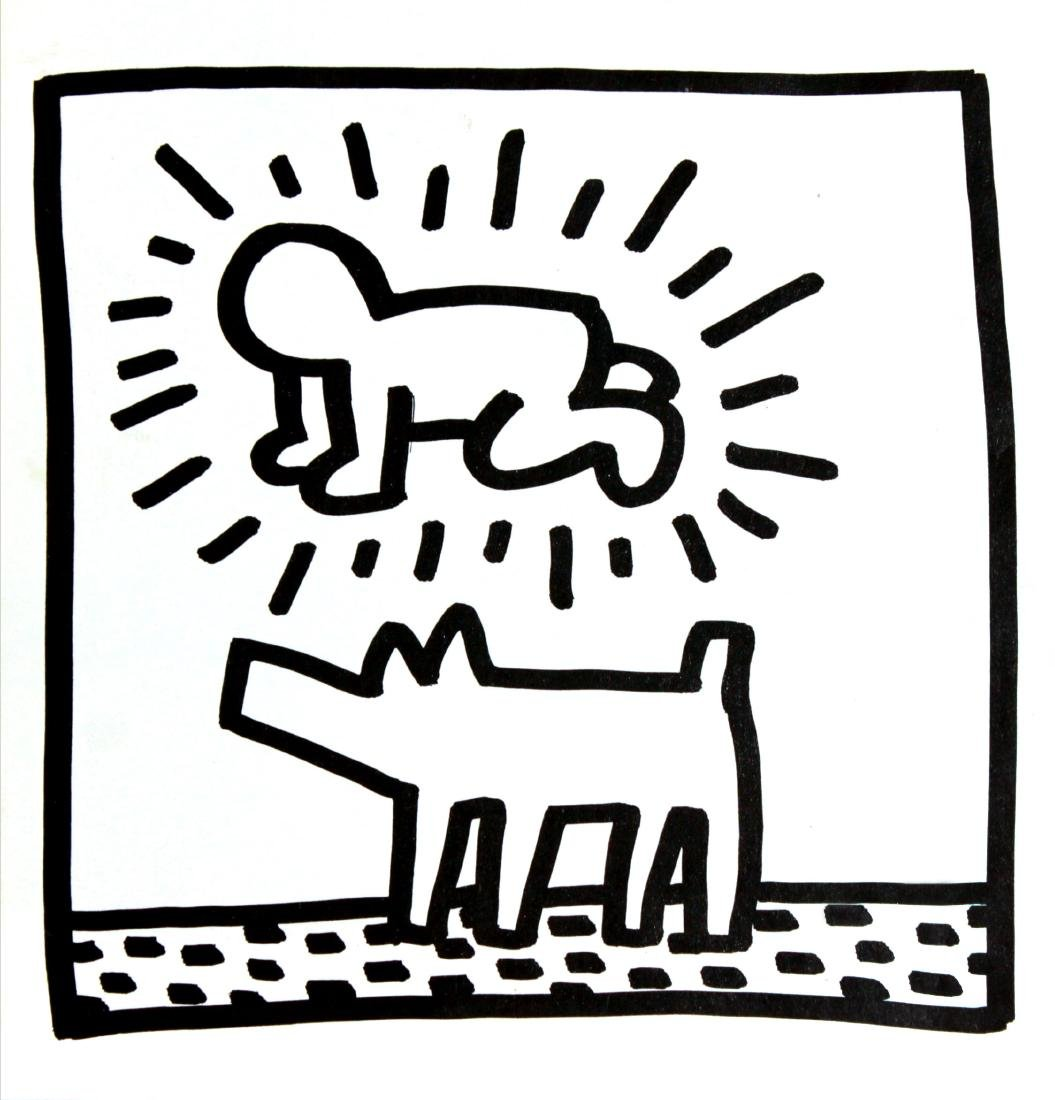 Keith Haring - Untitled (Dog & Figure)