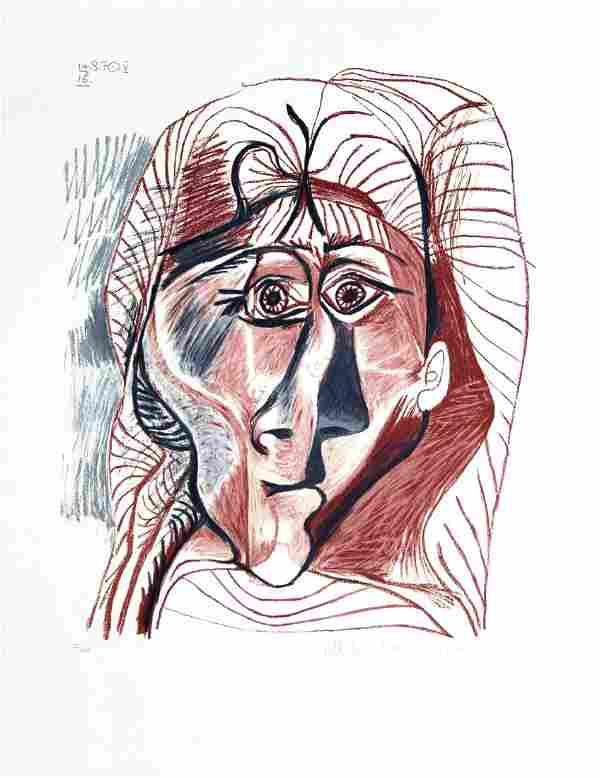 Pablo Picasso (After) - Visage de Femme de Face