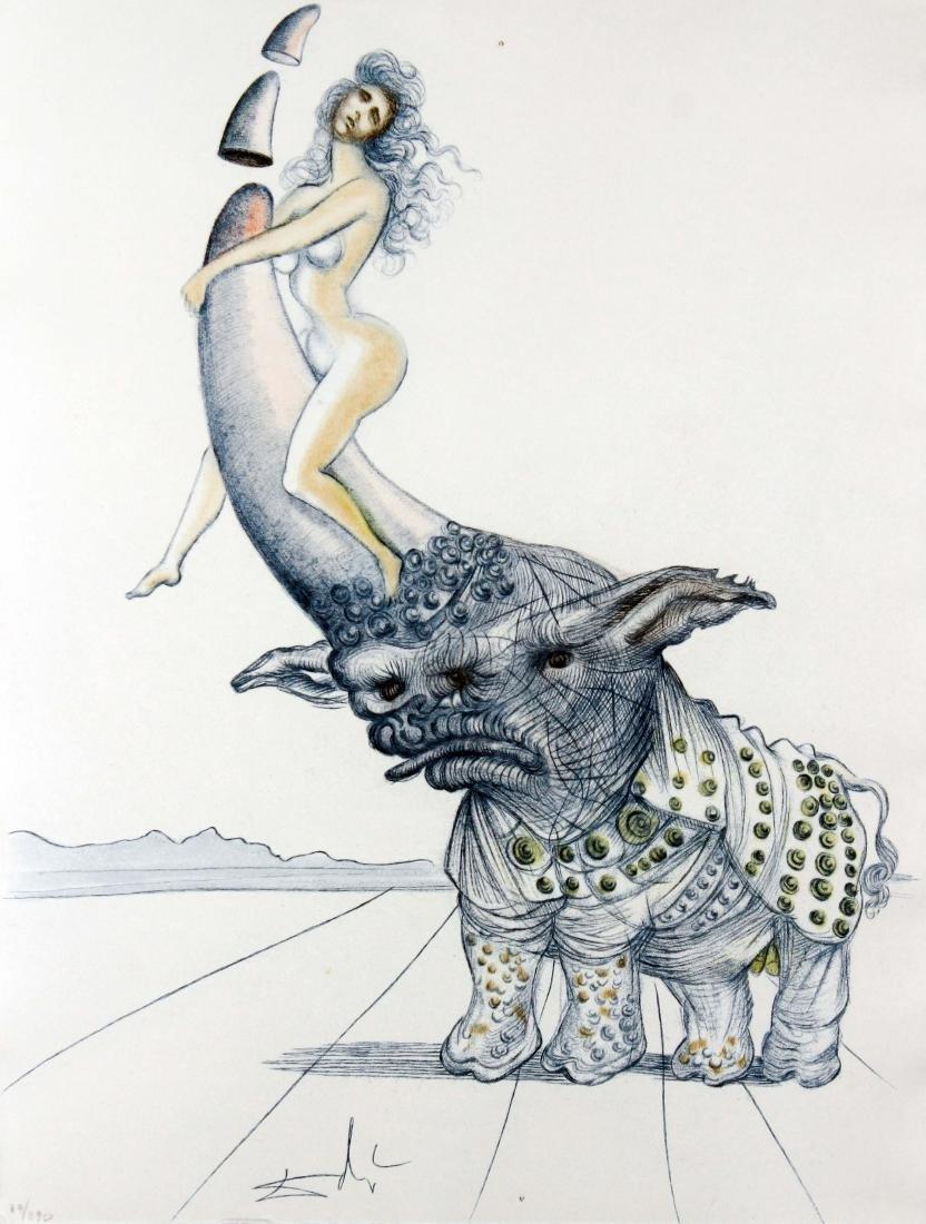 Salvador Dali - Girl on Rhinoceros Horn
