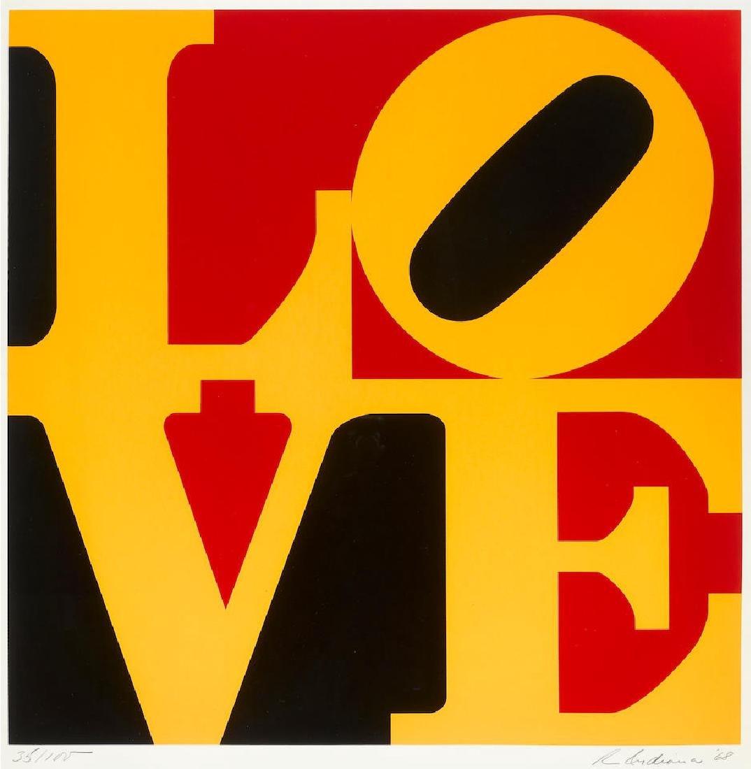 Robert Indiana - Red, Black, & Yellow LOVE 1968
