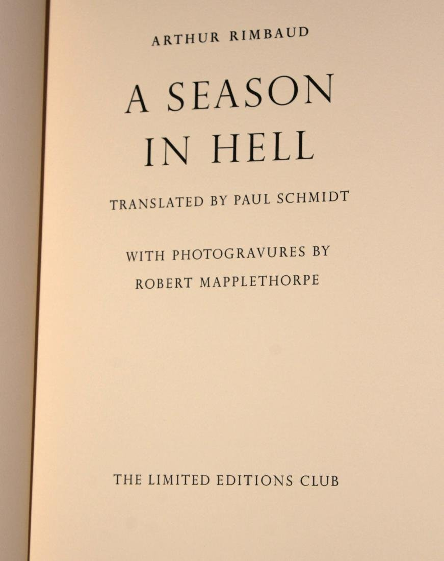Robert Mapplethorpe - A Season in Hell (Leather Bound - 3