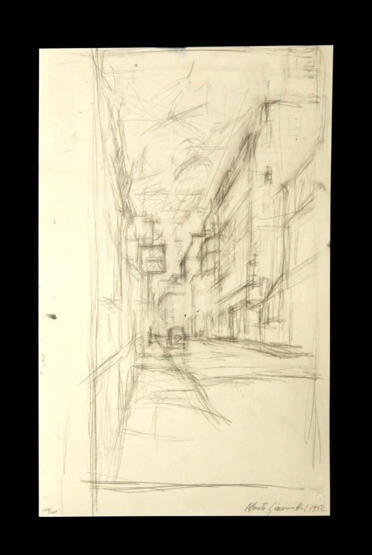 Alberto Giacometti - Untitled (Street Scene)