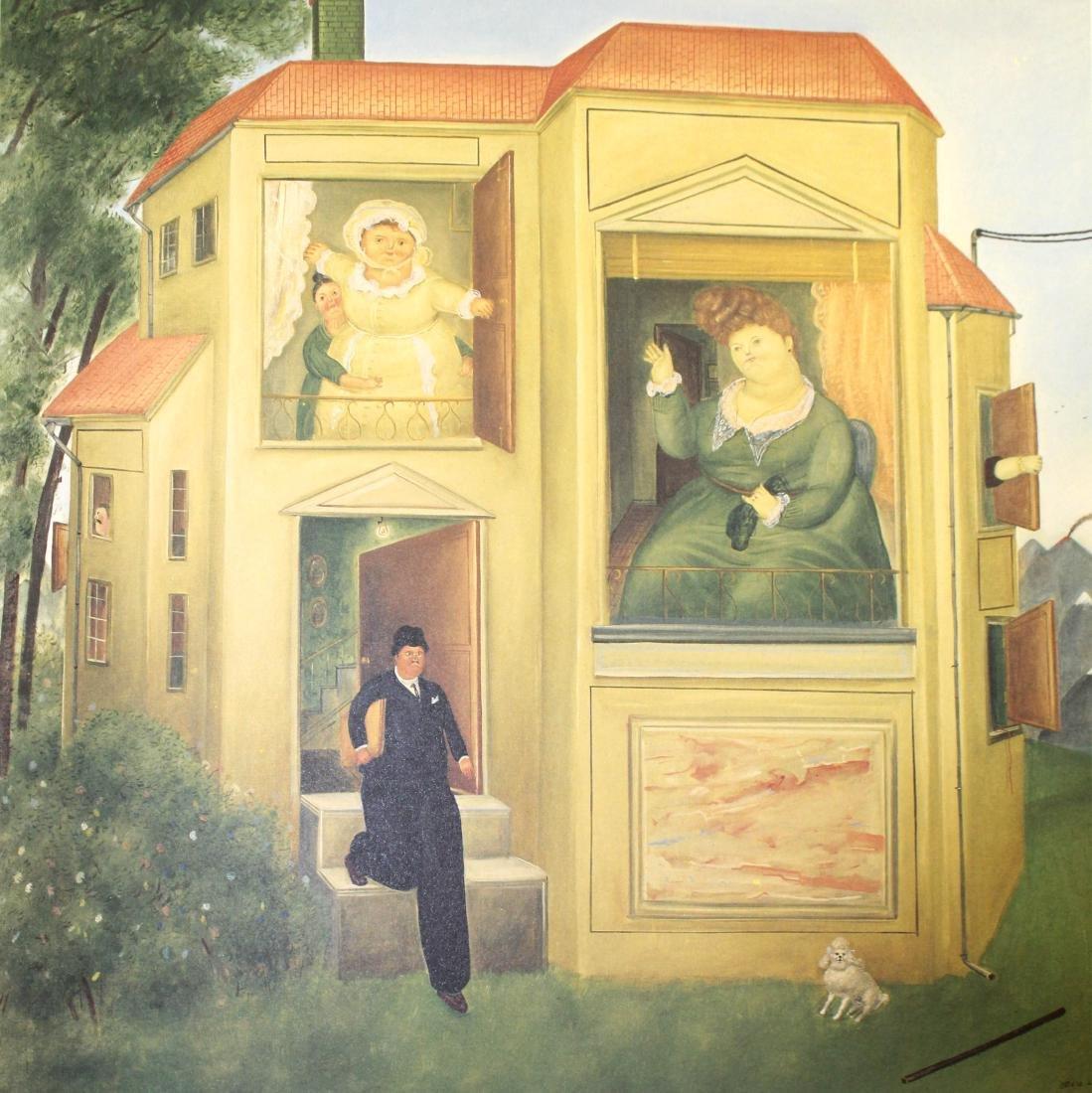 Fernando Botero  - Man Going to the Office