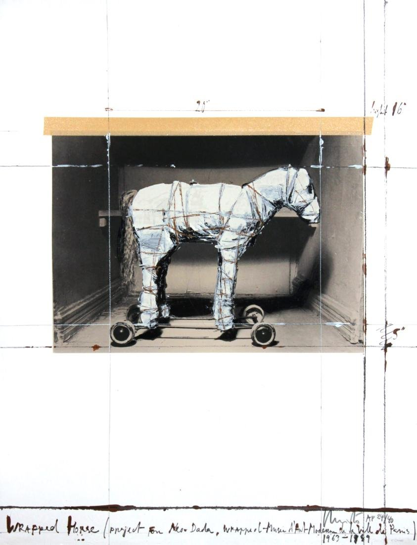 Christo - Wrapped Horse (Project for Neo-Dada)