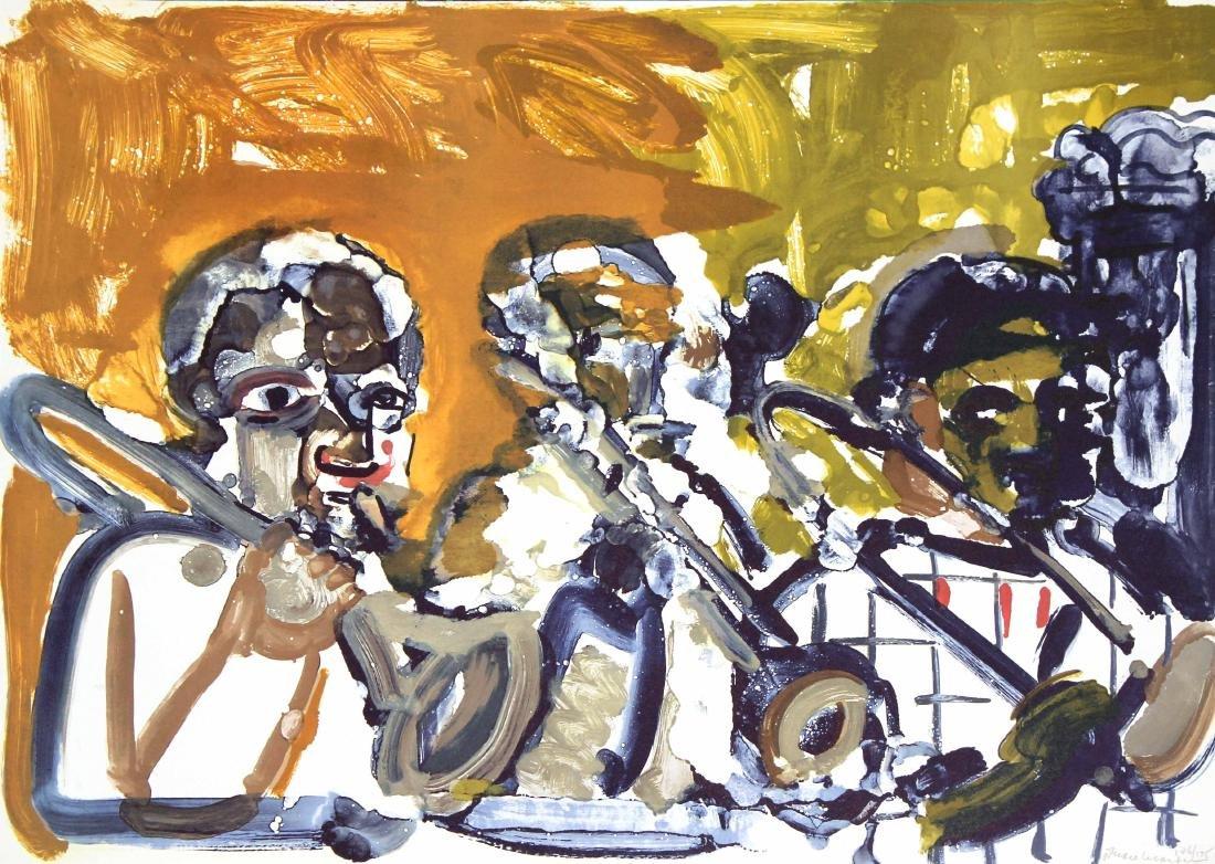Romare Bearden - Brass Section Jamming at Minton's